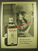 1959 Ballantine's Scotch Ad - The More You Know About Scotch