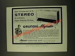 1959 Grundig Majestic Stereo Ad - Self Contained 3-D