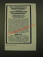1959 ALD, Inc. Westinghouse Laundromat Ad - Financially Independent