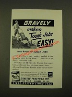 1960 Gravely Tractors Ad - Makes Tough Jobs Easy
