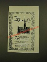 1962 Belgian Tourist Bureau Ad - Visit Friendly Belgium