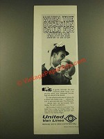 1963 United Van Lines Ad - When the Occasion Calls for Moving