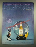 1965 Old Crow Bourbon Ad - A Tall, Handsome Bird in Your Future