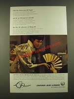 1967 JAL Japan Air Lines Ad - Take the Fan in Your Left Hand