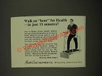 1967 Battle Creek Eqiupment Co. Health Walker Ad - Walk an Hour for Health