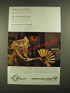 1968 JAL Japan Air Lines Ad - Take The Fan in Your Left Hand