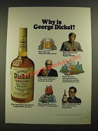 1970 George Dickel Tennessee Whisky Ad - Why is George Dickel?