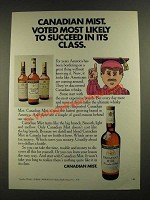 1970 Canadian Mist Whisky Ad - Voted Most Likely to Succeed