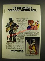1970 Canadian Mist Whisky Ad - Scrooge Would Give
