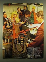 1970 Passport Scotch Ad - I Can't Go Home For the Holidays Without