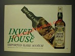 1970 Inver House Scotch Ad - Soft as a Kiss