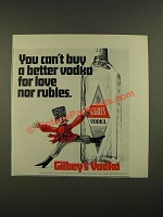 1970 Gilbey's Vodka Ad - You Can't Buy A Better Vodka