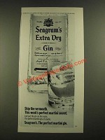 1971 Seagram's Extra Dry Gin Ad - Skip the Vermouth