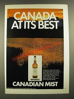 1971 Canadian Mist Whisky Ad