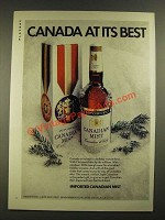 1971 Canadian Mist Whisky Ad - Canada At Its Best