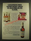 1971 Canadian Mist Whisky Ad - Voted Most Likely to Succeed