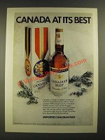 1973 Canadian Mist Whisky Ad - Canada At Its Best