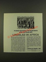1974 Lindblad Travel Ad - Lindblad in Africa