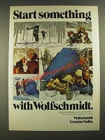 1975 Wolfschmidt Vodka Ad - Start Something with Wolfschmidt