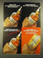 1975 Old Forester Whiskey Ad - Old Grand-Dad Ready For Retirement