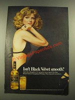 1975 Black Velvet Whisky Ad - Isn't Black Velvet Smooth?