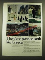 1976 Greek National Tourist Organization Ad - There's No Place on Earth Like