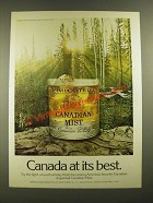 1976 Canadian Mist Whisky Ad - Canada At Best