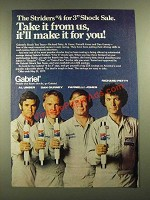 1977 Gabriel Shocks Ad - Al Unser, Dan Gurney, Parnelli Jones and Richard Petty