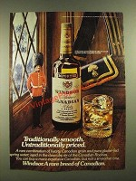 1977 Windsor Canadian Whisky Ad - Traditionally Smooth