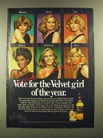1977 Black Velvet Whisky Ad  - Vote for the Velvet Girl of the Year
