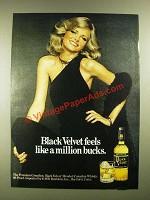 1977 Black Velvet Whisky Ad - Black Velvet Feels Like a Million Bucks