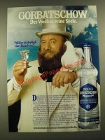 1977 Wodka Gorbatschow Vodka Ad - in German