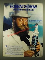1977 Wodka Gorbatschow Vodka Ad - in German - Des Wodkas reine Seele