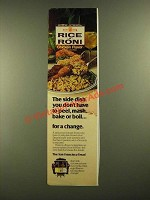 1978 Rice-a-Roni Chicken Flavor Ad - Don't Peel,, Mash, Bake