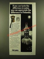 1978 Finlandia Vodka Ad - Taste the Difference