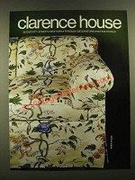 1978 Clarence House Robin (percale) Fabric Ad