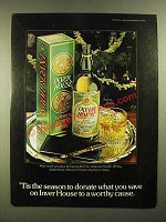 1978 Inver House Scotch Ad - 'Tis The Season to Donate