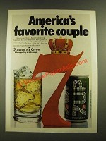 1979 Seagram's 7 Crown Whiskey Ad - Favorite Couple