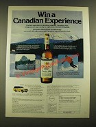1979 Canadian Mist Whisky Ad - Win a Canadian Experience