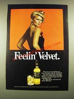 1979 Black Velvet Whisky Ad - Feelin' Velvet