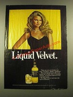 1979 Black Velvet Whisky Ad - Liquid Velvet