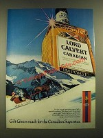 1979 Lord Calvert Canadian Whisky Ad - Gift Givers Reach For