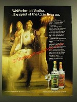 1979 Wolfschmidt Vodka Ad - The Spirt of the Czar