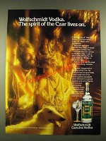 1979 Wolfschmidt Vodka Ad - The Czar Lives On