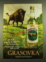 1979 Grassovka Bison Brand Vodka Ad - in German