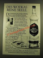 1979 Wodka Gorbatschow Vodka Ad - in German - Des Wodkas Reine Seele