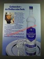 1979 Wodka Gorbatschow Vodka Ad - in German