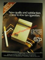 1979 Lambert & Butler Special Mild Cigarettes Ad - Quality and Satisfaction