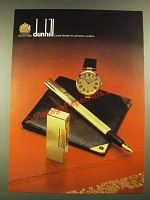 1979 Dunhill Cigarette Lighter, Pen, Watch and Billfold Ad