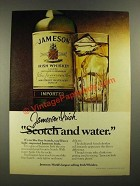 1979 Jameson Irish Whiskey Ad - Scotch and Water